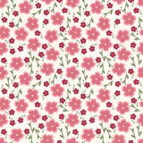 Einfaches und der Schönheitsblume nahtloses Muster Vektor Lizenzfreies Stockfoto