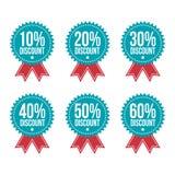 Einfaches Vektor-Rabatt-Tag Lizenzfreie Stockfotos