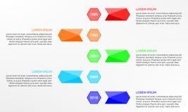 Einfaches Zeitachse infographics Design Lizenzfreies Stockfoto