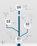 Einfaches Zeitachse infographics Design Lizenzfreies Stockbild