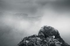 Einfarbige Berglandschaft von Foros lizenzfreie stockbilder