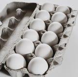Einfarbige Dutzend Eier Stockfotos
