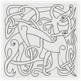 einfarbige Ikone mit keltischer Kunst und ethnischen Verzierungen Stockbilder