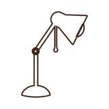 Einfarbige Konturnlampe des Desktops justierbar stock abbildung
