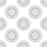 Einfarbige Lotus Seamless Lizenzfreie Stockfotografie