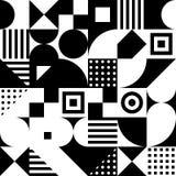 Einfarbige Quadrate, Dreiecke, Rechtecke, Kreise Vector nahtloses Muster Einfache geometrische Formen Textilfarbe repetitive vektor abbildung