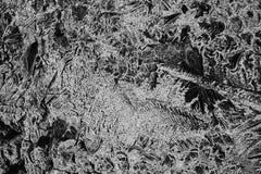 Einfarbige Schwarzweiss-Beschaffenheit des gebrochenen Eises Stockfotografie