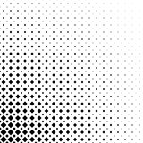 Einfarbiger abstrakter quadratischer Musterhintergrund - geometrische Vektorschwarzweiss-graphik von den diagonalen Quadraten Lizenzfreies Stockfoto