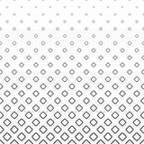 Einfarbiger abstrakter quadratischer Musterhintergrund - geometrische Vektorschwarzweiss-graphik von den diagonalen Quadraten Lizenzfreies Stockbild