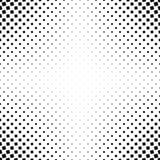 Einfarbiger abstrakter quadratischer Musterhintergrund - geometrische Vektorschwarzweiss-graphik von den eckigen Quadraten Lizenzfreie Stockfotos