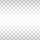 Einfarbiger abstrakter quadratischer Musterhintergrund - geometrische Vektorschwarzweiss-graphik von der Diagonale rundete Quadra Stockfoto