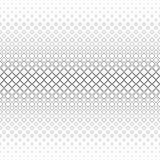 Einfarbiger quadratischer Musterhintergrund - geometrische Vektorschwarzweiss-graphik von den diagonalen Quadraten Lizenzfreie Stockbilder