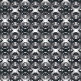 Einfarbiges geometrisches dekoratives Muster, schwarzes rhombisches backgr Stockfotos