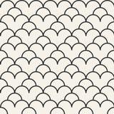 Einfarbiges geometrisches Muster des Vektors des abstrakten Begriffs Minimaler Schwarzweiss-Hintergrund Kreative Illustrationssch Lizenzfreie Stockfotos