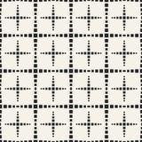 Einfarbiges geometrisches Muster des Vektors des abstrakten Begriffs Minimaler Schwarzweiss-Hintergrund Kreative Illustrationssch Lizenzfreie Stockfotografie