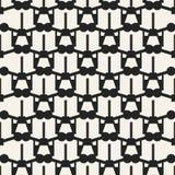 Einfarbiges geometrisches Muster des Vektors des abstrakten Begriffs Minimaler Schwarzweiss-Hintergrund Kreative Illustrationssch Stockbilder