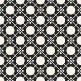 Einfarbiges geometrisches Muster des Vektors des abstrakten Begriffs Minimaler Schwarzweiss-Hintergrund Kreative Illustrationssch Lizenzfreie Stockbilder