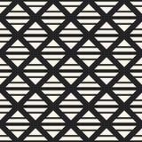 Einfarbiges geometrisches Muster des Vektors des abstrakten Begriffs Minimaler Schwarzweiss-Hintergrund Kreative Illustrationssch Lizenzfreies Stockfoto