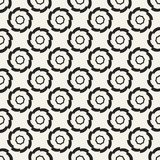 Einfarbiges geometrisches Muster des Vektors des abstrakten Begriffs Minimaler Schwarzweiss-Hintergrund Kreative Illustrationssch Lizenzfreies Stockbild