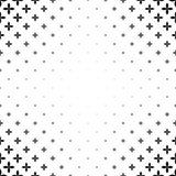 Einfarbiges Muster - abstraktes Vektorhintergrundgrafikdesign von gebogenen geometrischen Formen Lizenzfreies Stockbild