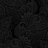 Einfarbiges nahtloses Muster mit Blumenmotiven lizenzfreie abbildung