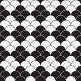 Einfarbiges nahtloses Schwarzweiss-Muster mit rhoms Struktur vektor abbildung