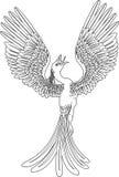 Einfarbiges Phoenix Lizenzfreie Stockfotos