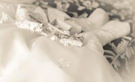 Einfarbiges Retro- des Hochzeitshintergrundes ist unscharf Stockfoto
