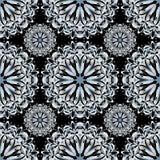 Einfarbiges schönes nahtloses Muster Blumenverzierung des hohen Details Lizenzfreie Stockfotos