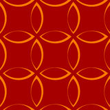Einfarbiges sich wiederholendes Muster mit Blumenblatt-/Blumen-/Blattformen vektor abbildung