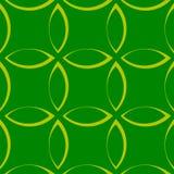Einfarbiges sich wiederholendes Muster mit Blumenblatt-/Blumen-/Blattformen stock abbildung