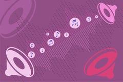 Einfassung - Ton mit Sprechern lizenzfreie abbildung