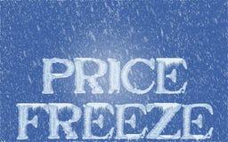 Einfrieren der Preise Lizenzfreie Stockfotos