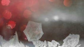 Einfrierende Schneemusternahaufnahme, Winterurlaubhintergrund, stock video footage