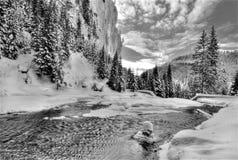 Einfrierender Fluss Stockbild