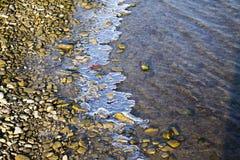 Einfrierender Fluss Lizenzfreies Stockfoto