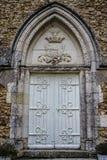 Eingang, altes Steingebäude in Frankreich Stockbild
