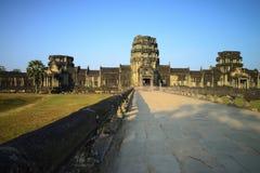 Eingang in Angkor Wat Stockfotos