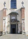 Eingang, Benediktiner-Abtei in Tyniec Stockbilder
