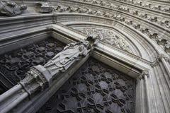 Eingang Catedral Des Barcelona Stockfotos