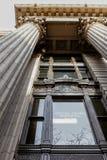 Eingang in den Vereinigten Staaten National Bank in im Stadtzentrum gelegenem Portland, Oregon lizenzfreies stockfoto