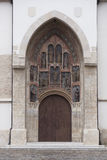 Eingang an der alten Kirche Lizenzfreie Stockfotografie