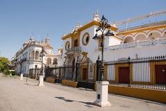 Eingang der Arena von Sevilla Lizenzfreies Stockfoto