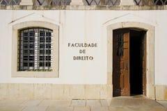 Eingang der juristischen Fakultät Lizenzfreies Stockfoto