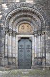 Eingang der Kirche der Heiliger Cyril und Methodius, Prag Stockfoto
