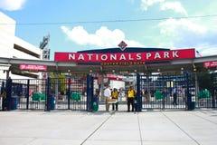 Eingang der linken Spielfeldseite zum Angehörig-Park. Lizenzfreies Stockfoto