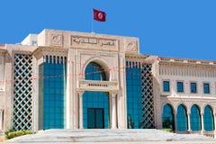 Eingang der Stadt Hall Building in Tunis, Tunesien lizenzfreie stockbilder