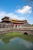 Eingang der Zitadelle, Farbe, Vietnam. Stockbilder
