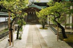 Eingang des buddhistischen Tempels Stockfotografie