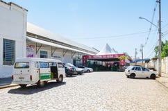 Eingang des Ereignis XIII Festivals tun Soba in Campo großem Mitgliedstaat Stockfotos